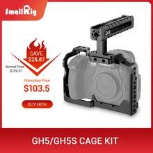 SmallRig GH5S Macchina Fotografica GH5 Dual Gabbia di Alluminio kit Per Panasonic Lumix Dmc-GH5/GH5S Forma di Montaggio Cage con Maniglia Superiore grip 2050