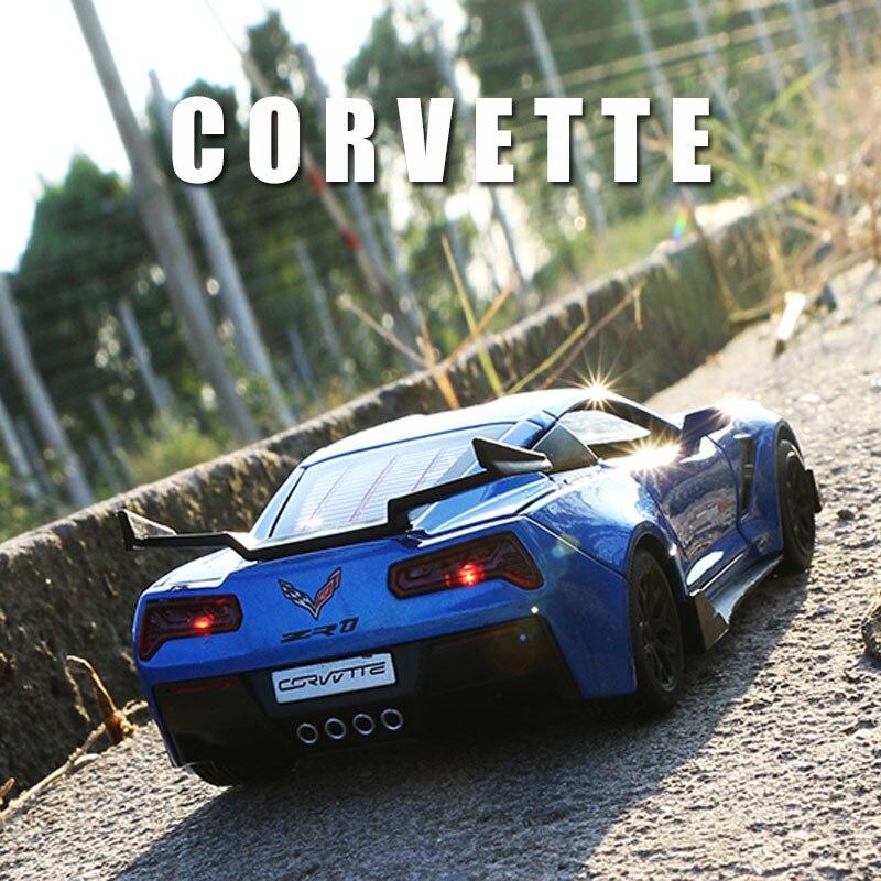 chevrolet corvette carrinhos de brinquedo colecionaveis carro de liga para meninos