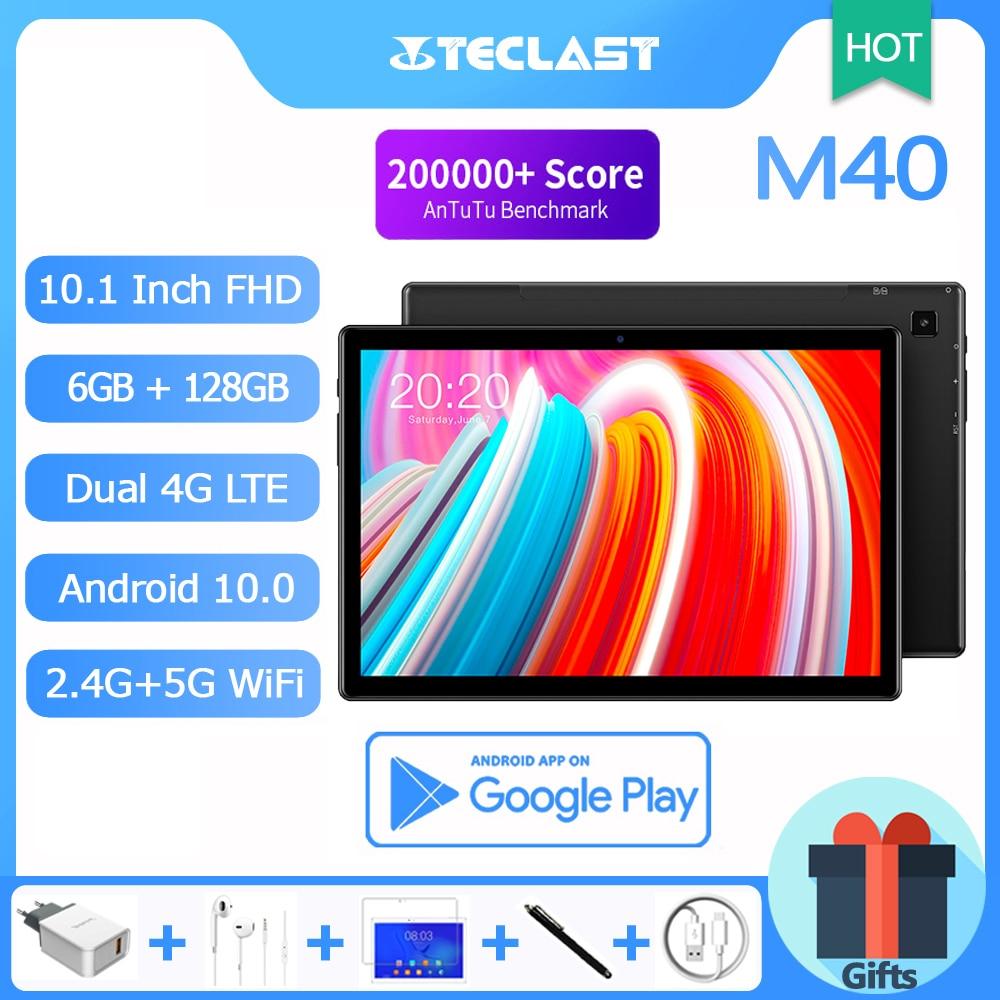 2021 Teclast 10.1'' Tablet M40, Octa Core, 6GB RAM, 128GB ROM, Android 10.0, 1920x1200 IPS, 4G LTE, 5G WiFi, GPS, 6000mAh Battery