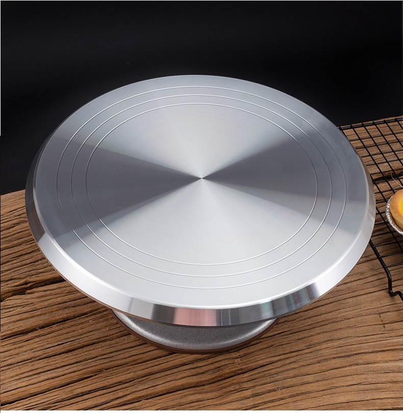 25cm Alloy Cake Turntable Cake Stand Platform Round Rotating Revolving Cake Tools
