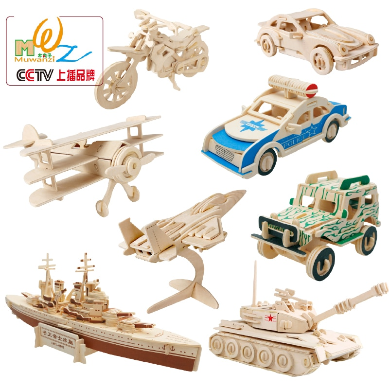 AliExpress - Hot selling Wooden 3D Aircraft Car Puzzles Wood Various Fighters Scale Models Set Children Jigsaw DIY Airplane Puzzles Toys Gift