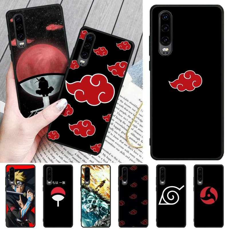 LJHYDFCNB Anime Naruto Itachi Soft black Phone Case For Huawei P9 10 20 30 40 P Smart 20lite 2019 P30 lite Pro P9 lite 2017