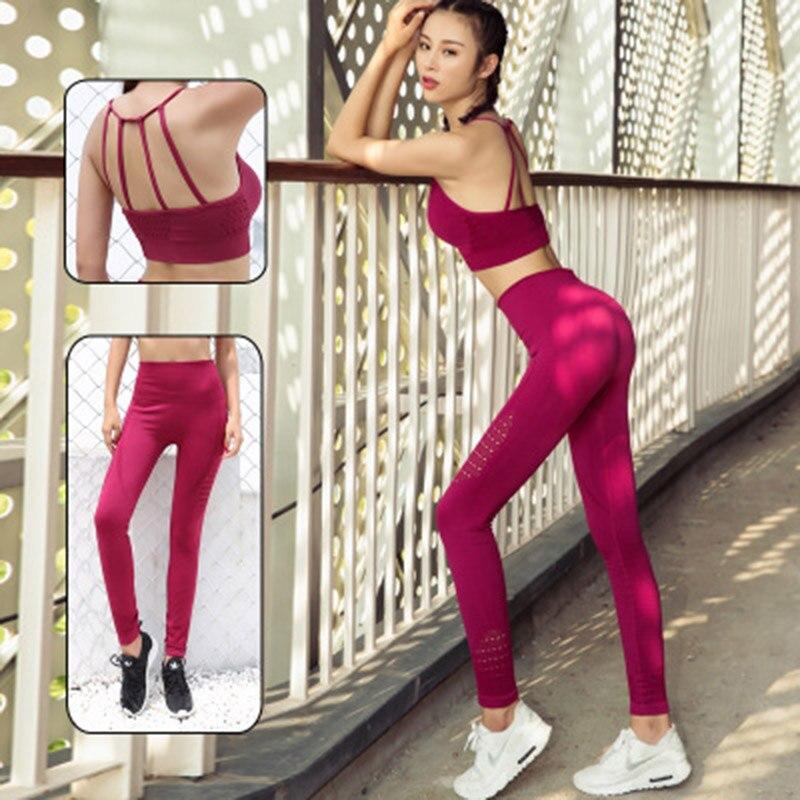 Conjunto de Yoga para Mujer, Ropa deportiva ajustada, sexy, 2020