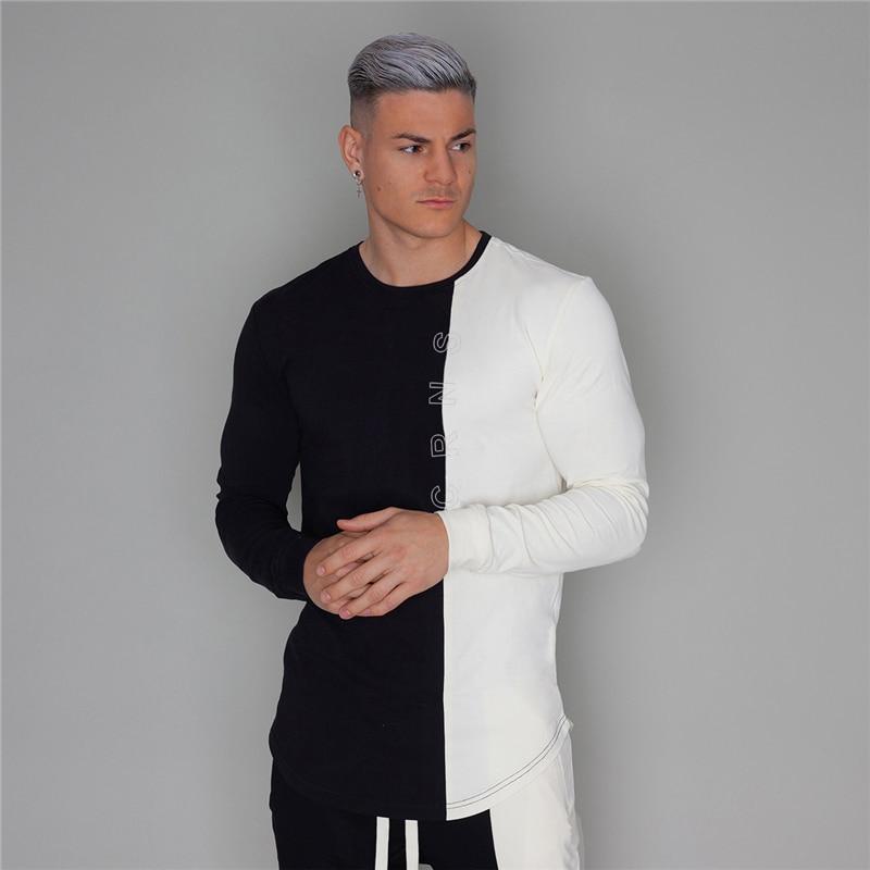 Autumn New Men's Fashion Sportswear Men T-Shirt Men's Long Sleeve Fitness T-Shirt Men's Casual Jogger Gyms Workout T-Shirt
