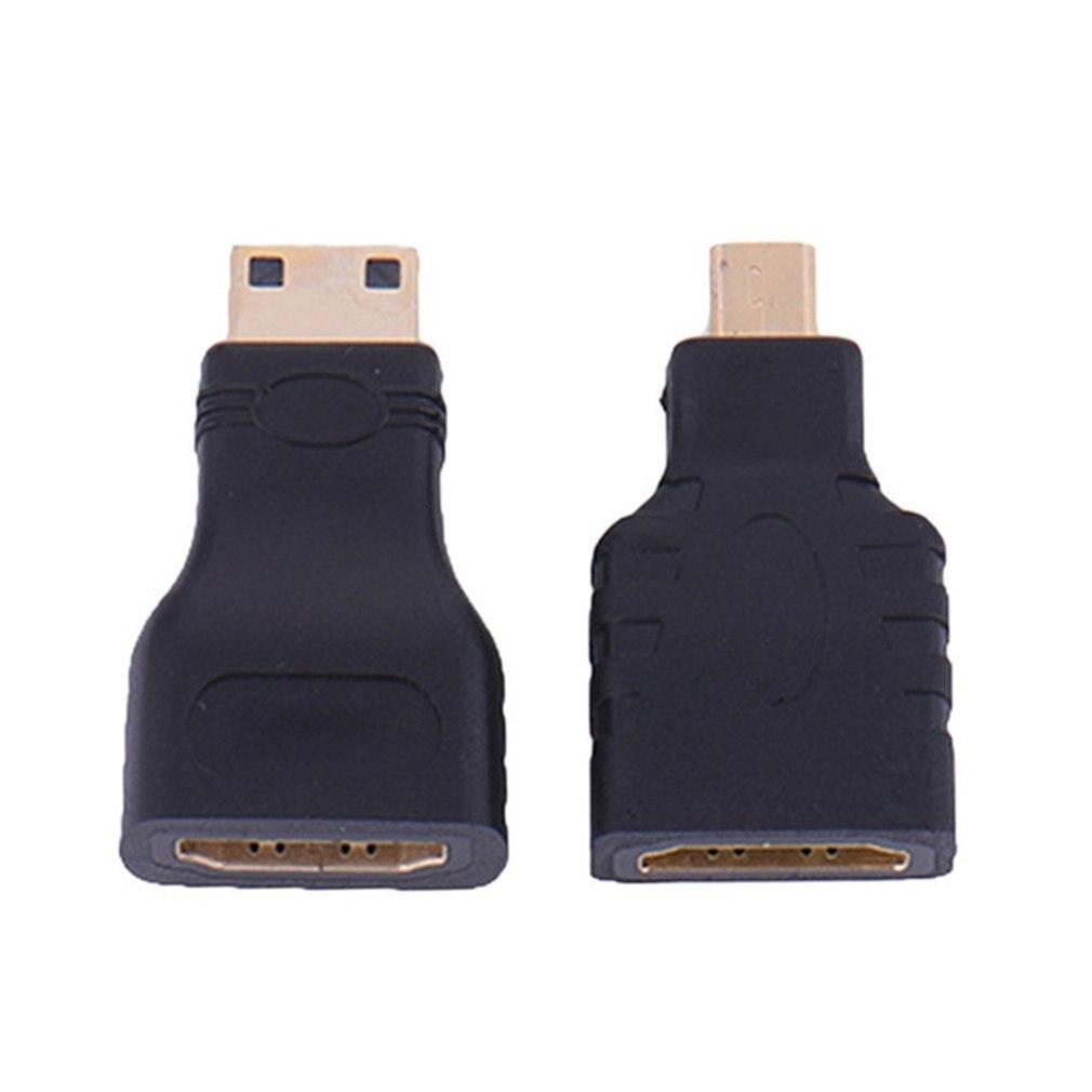 Adaptador de extensión de conector HDMI, compatible con Micro Mini chapado en...