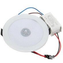 7W E27 LED Downlight luz por movimiento PIR Sensor 5730 SMD luz LED StepPath lámpara AC 85-265V