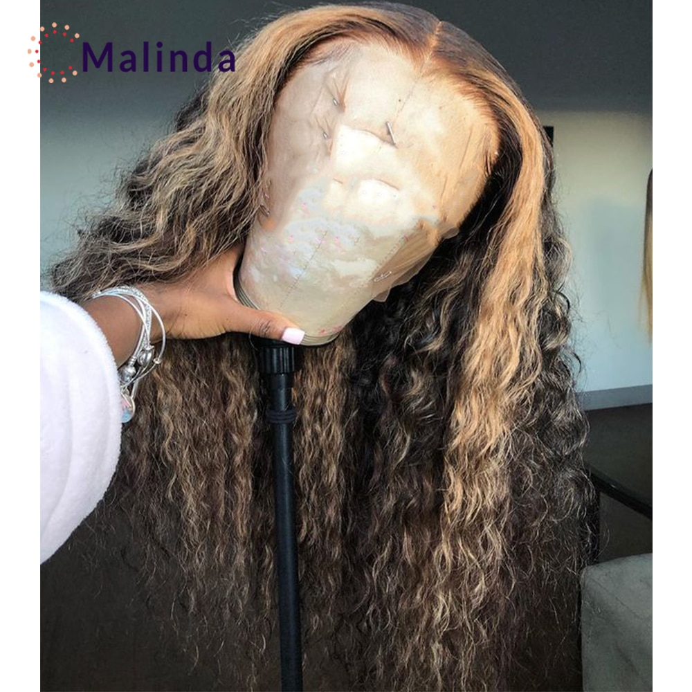 Ombre Blonde Lace Front Wig Human Hair T Part Hlighted Wig Human Hair Pre Plucked With Baby Hair Best Lace Front Wigs 150 250