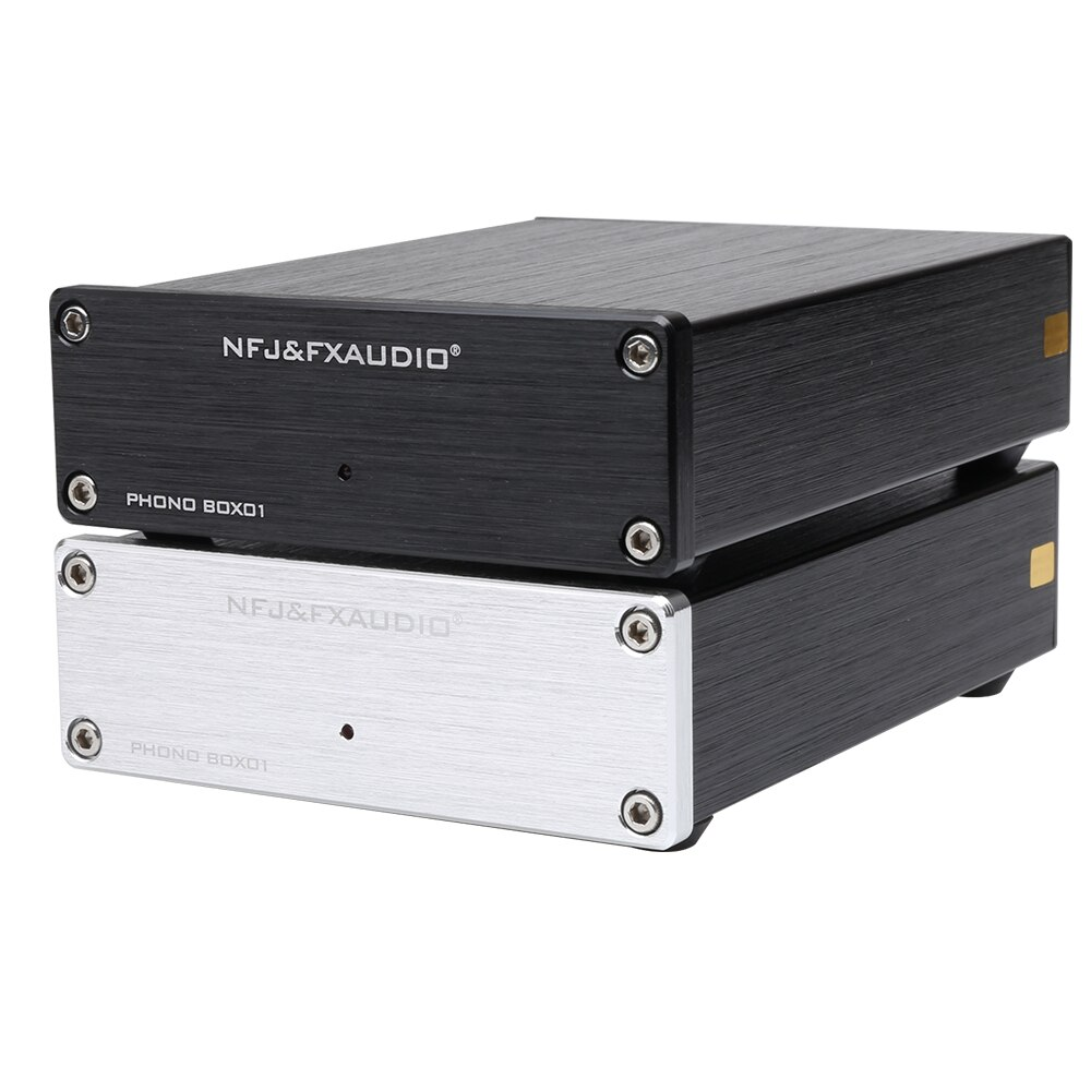 NFJ & FXAUDIO BOX01 LP reproductor de discos de vinilo Mini MM cartucho Phono preamplificador de Audio amplificador AMP