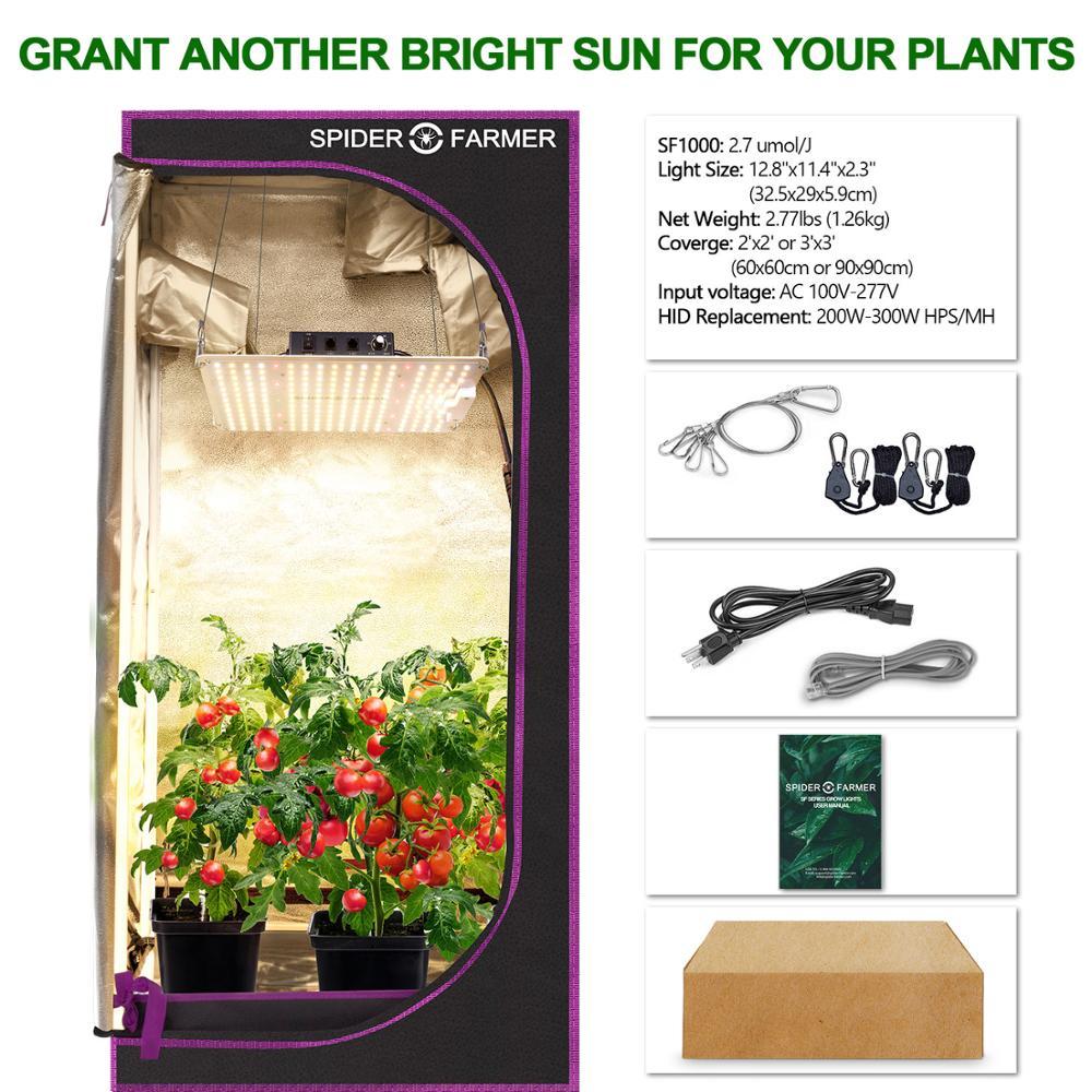 Spider Farmer SF 1000W Full Spectrum Led Grow Light For VEG Plants Flowers  Samsung Led LM301D Meanwell Driver Growing Lamp enlarge