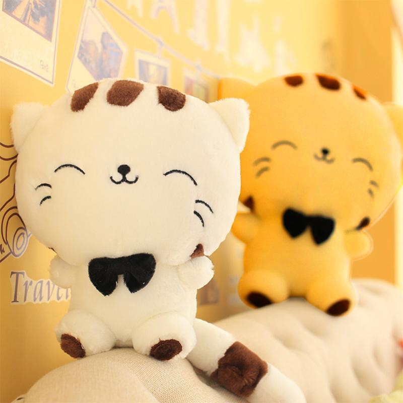 Hot 1pcs 25cm Kawaii Popular Big Face Cat Plush Stuffed Toys Doll Lovely Fortune Cartoon Gift
