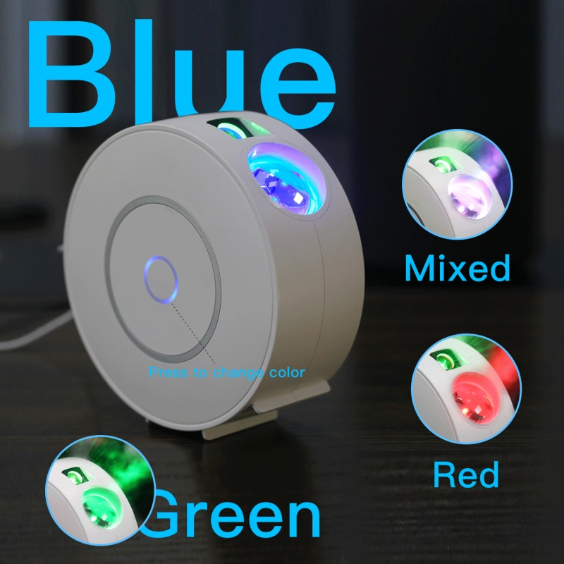 Tuya Smart Проектор звездного неба, Wi-Fi, лазерный проектор звездного неба, развевающиеся Ночной светильник Led красочное приложение Беспроводной ...