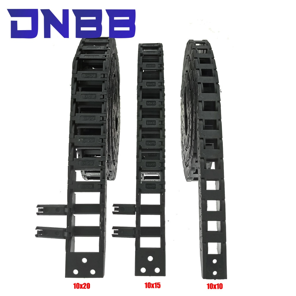 Cable Drag 5x5 7x7 10x10 10x15 10x20 10x30 L1000mm Chain Wire Carrier with End Connectors for CNC 3D