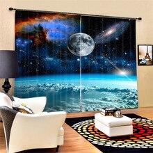 Cortinas de lujo Blackout 3D ventana cortinas para sala de estar dormitorio cortinas tamaño personalizado espacio exterior