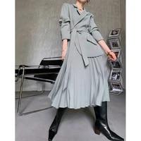 pleated french light design of street waist closing skirt light temperament