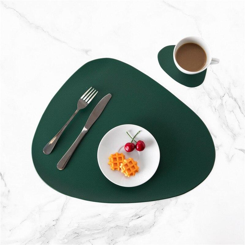 4 مجموعات تحديد الموقع ل طاولة طعام الوقايات المائدة العزل الحراري عدم الانزلاق الجدول كأس الحصير مجموعة المطبخ قابل للغسل أسود