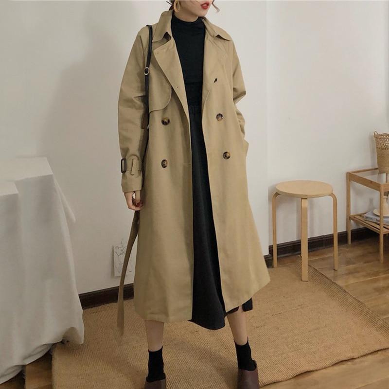Новинка 2021, Женский Тренч, дешевая оптовая продажа, Осень-зима, лидер продаж, женская модная повседневная рабочая одежда, красивые пальто