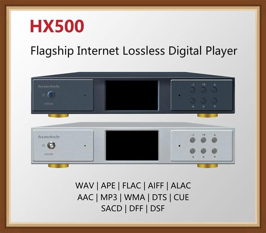 Leitor de Música Hxmelody Dsd1024 Lcd Dst64 Sacd App Dnla Digital Turntable Lossless cd Controle Remoto Hx500 Ak497 Pcm768khz 32bit
