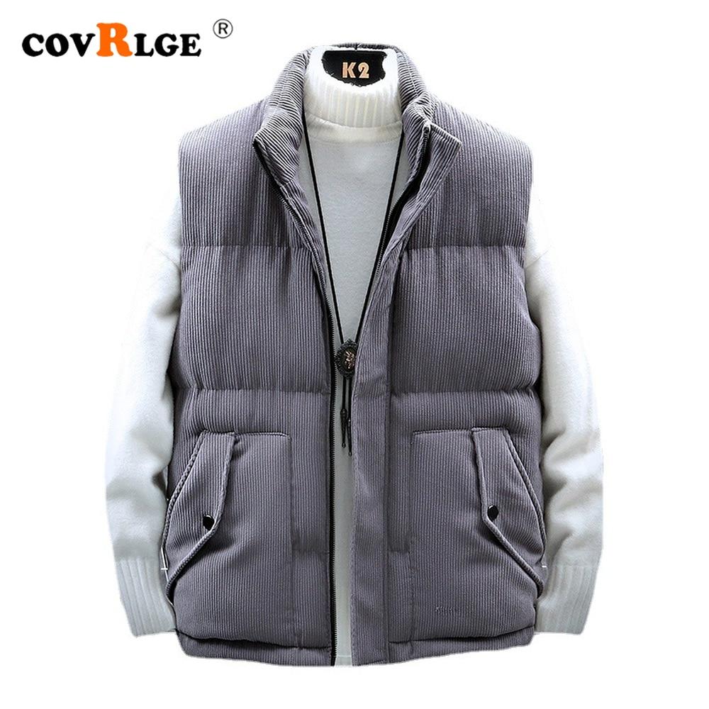 Жилет Covrlge мужской зимний пуховой, хлопковый жилет, молодежная безрукавка, утепленный теплый жилет, Повседневная Уличная одежда, MWB041