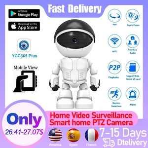 Home Video surveillance 1080P Infrared Night Vision Smart home PTZ Camera Indoor Baby Pet Security Surveillance camera with wifi