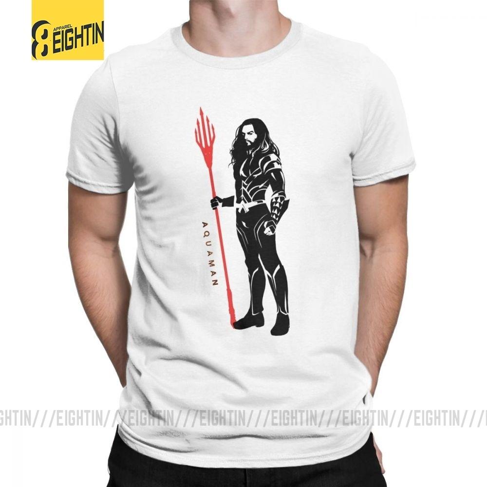 Aquamán Pose Pop Art King Orm Of Atlantis camisetas para hombres Camiseta de algodón de manga corta Camiseta de cuello redondo Camiseta estampado ropa