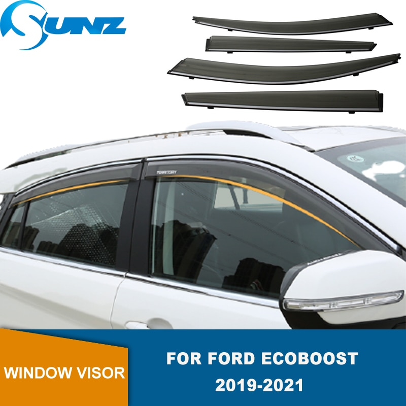 Side Window Visor  For Ford EcoBoost 2019 2020 2021 Smoke Window Shield Sun Rain Deflector Guards SUNZ