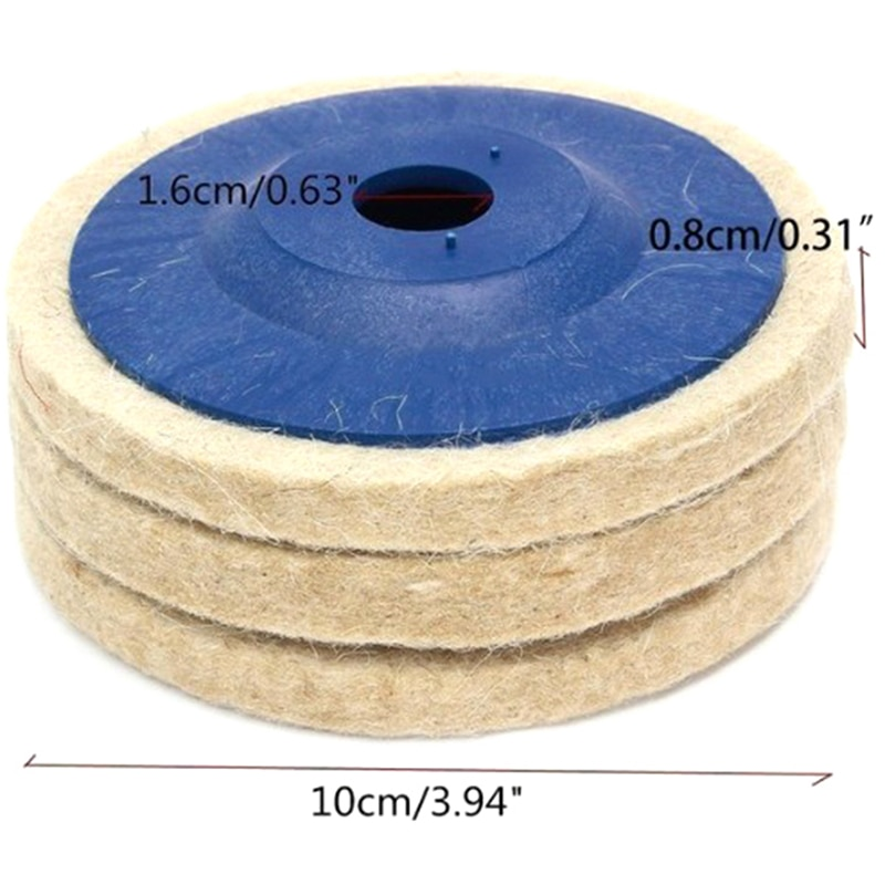 HOT SALE 100mm wool polishing wheel buffing pads angle grinder wheel felt polishing disc Polisher