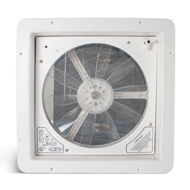 RV Accessories 14' CE Certificated Rain Sensor 420mm Anti-UV ABS 12V Remote Controller RV Roof Vent Fan enlarge