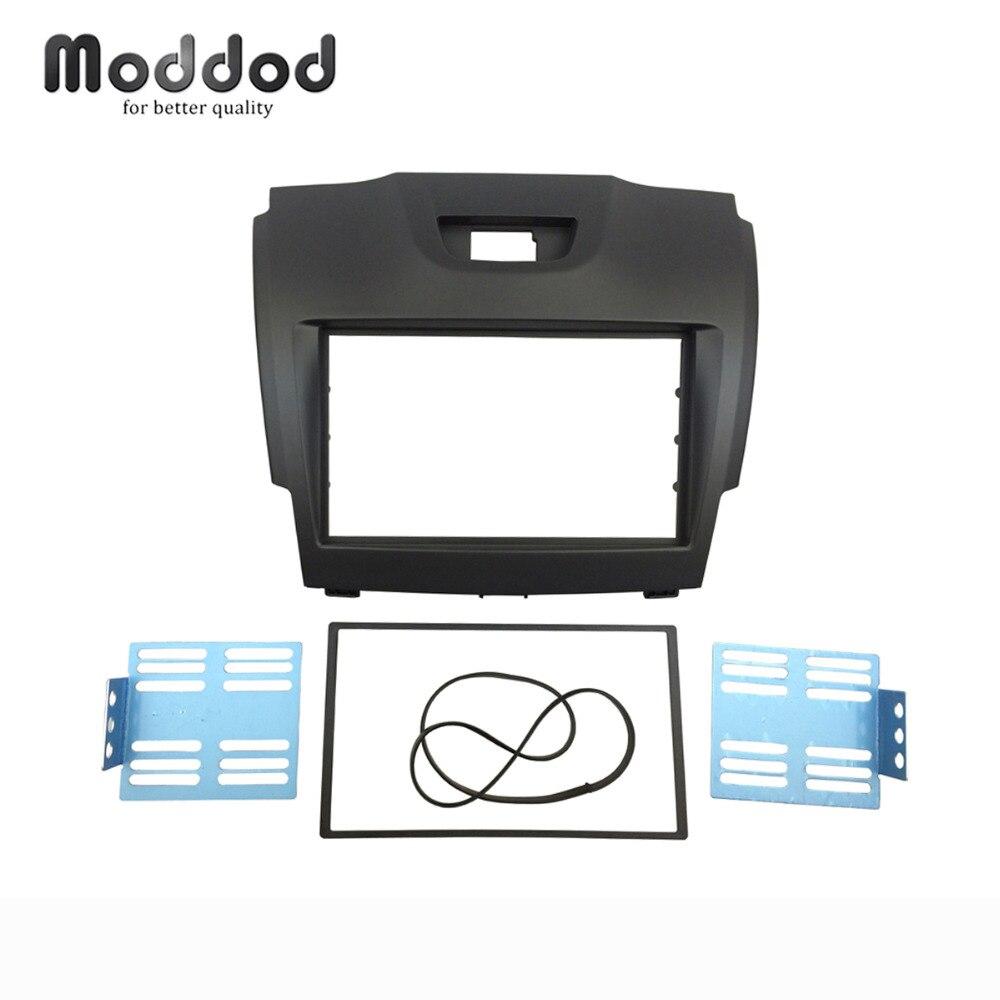 Doble Din Fascia para Chevrolet TrailBlazer Isuzu d-max Holden Colorado Radio panel para estéreo y DVD montaje en tablero Kit de marco ajustable