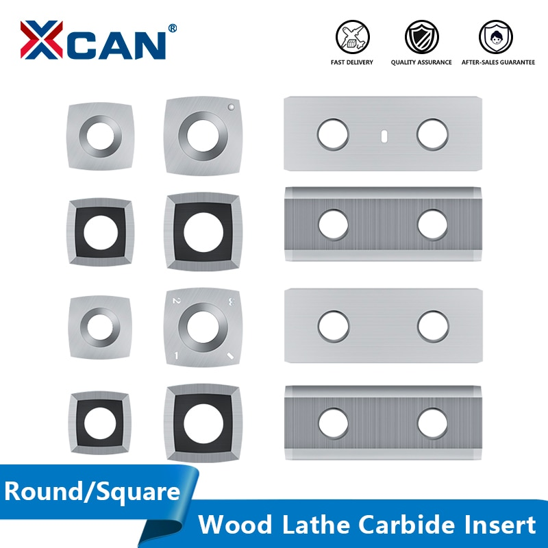 XCAN Carbide Insert Wood Lathe Turning Tool Square Round Blade Woodworking Machinery Accessories Lathe Tool Cutter