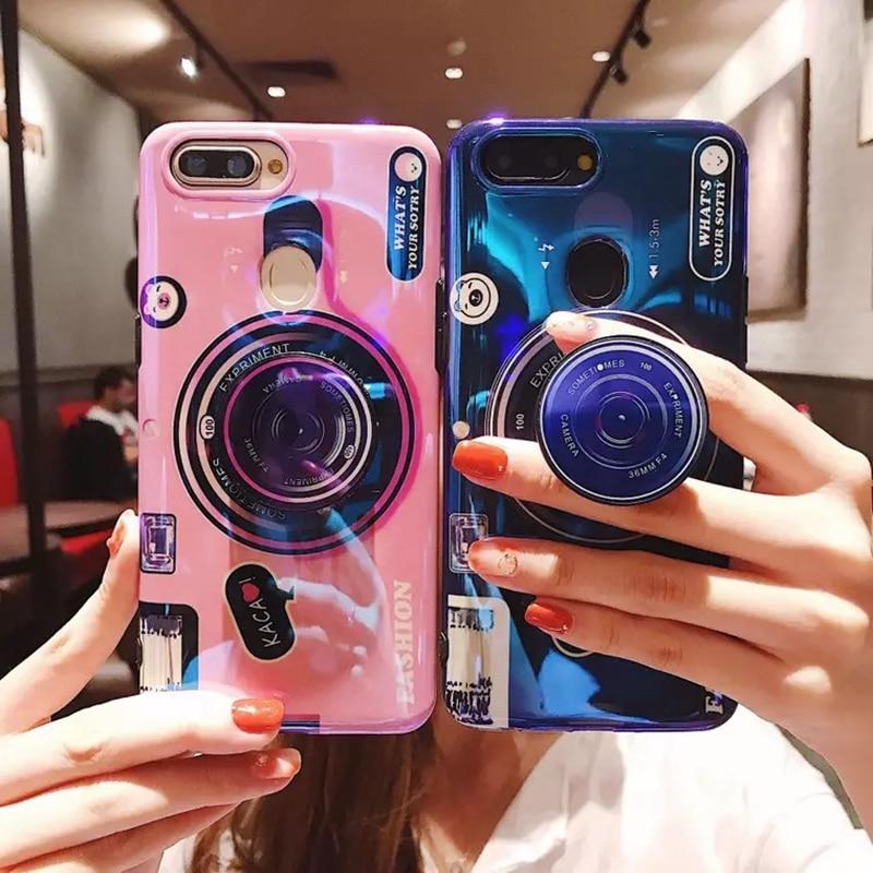 Funda de teléfono para iPhone 6 S 6 7 8 X XS Max Plus, funda de silicona con soporte para cámara bonita, funda para iPhone 6 S 6 Plus XR