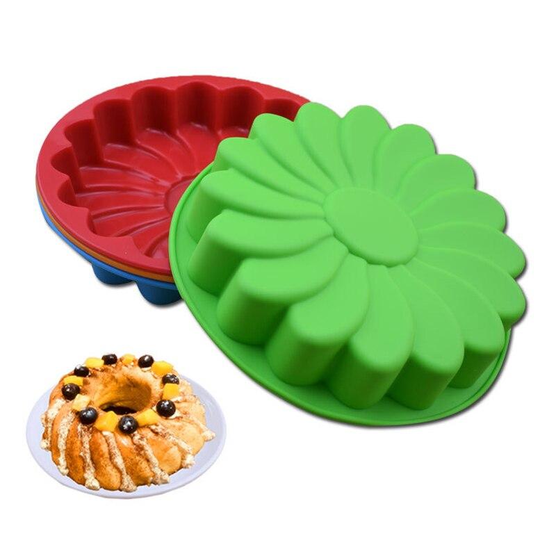 Силиконовые формы для торта, утолщенный большой лоток для выпечки, праздничный торт с фонданом, Qi Feng, мусс, форма для печи, большой лоток для ...