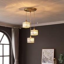 Industrial Lighting Crystal Pendant Lights Living Room Aisle Bar Restaurant Light Scandinavian Hanglamp Dining Room Fixtures