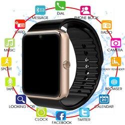 Relógios digitais eletrônicos para homens, gt08, com tela sensível ao toque, bateria potente, suporte tf, cartão sim e câmera, para ios, iphone android, android