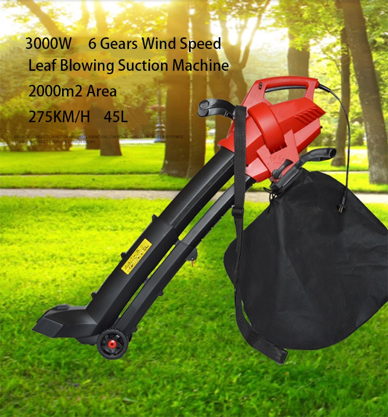 3000W Electric Garden Leaf Blower Leaf Crusher Blowing suction machine+10m Power line enlarge