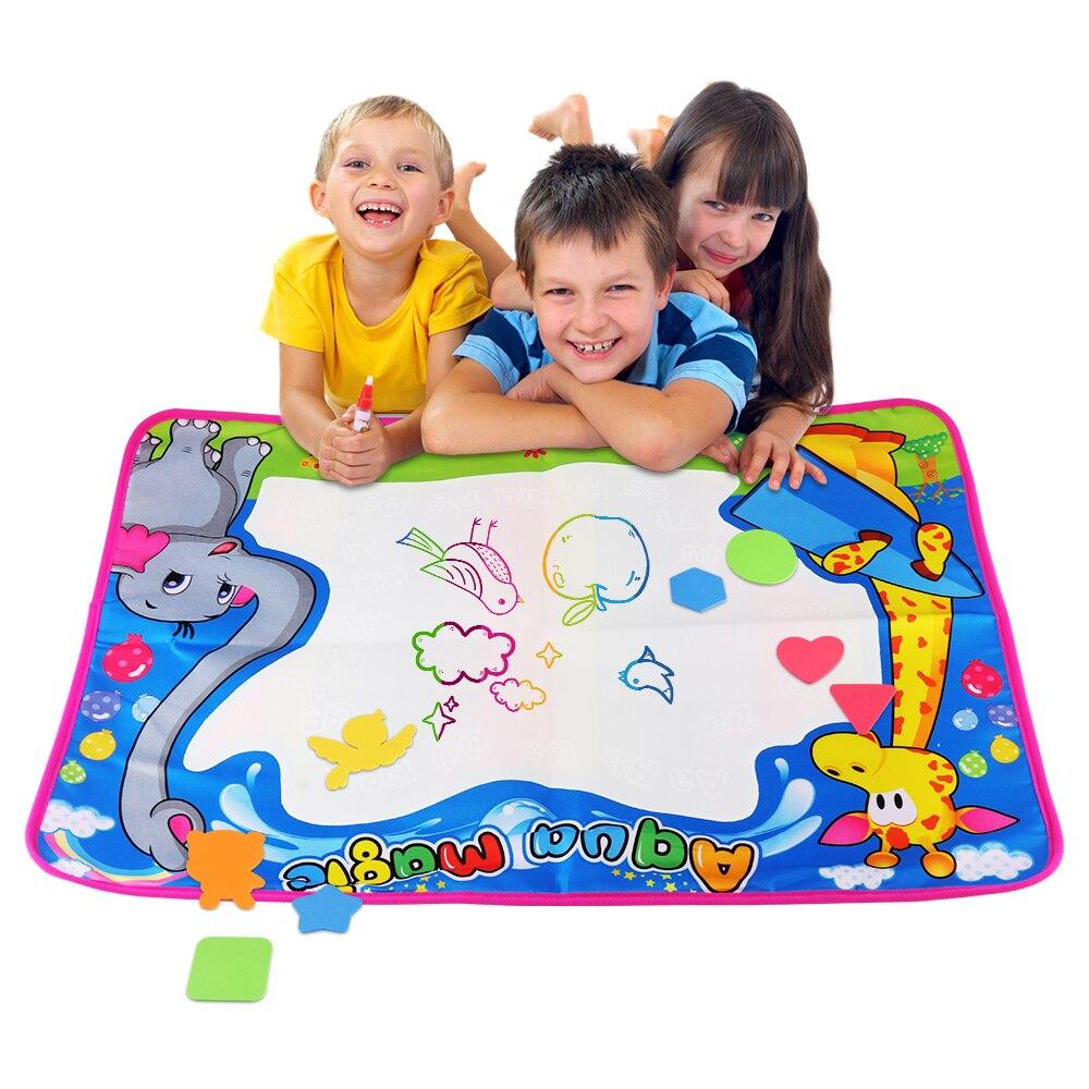 Коврик для рисования Обучающие игрушки коврик водой Раскрашивание книг ручки