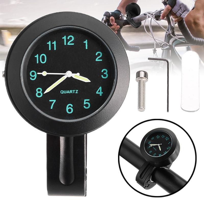 """Mini 7/8 """"1"""" motocicleta guiador relógio barra de montagem digital dial relógio medidor de tempo à prova dwaterproof água motor da bicicleta da motocicleta relógios digitais"""