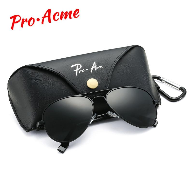 Pro Acme Classic Pilot Polarized Sunglasses for Men Women Metal Pilot Sun Glasses Driving Eyewear 58mm UV400 With Case PA1095