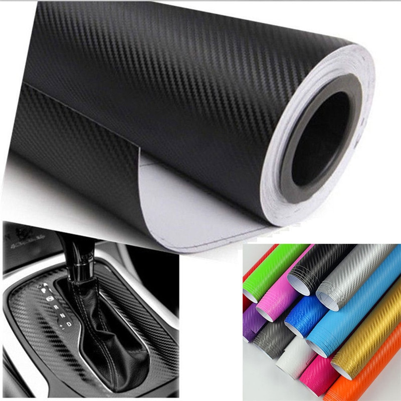 Купить с кэшбэком 1pc DIY 5Colors 3sizes Car Sticker Matte Pearl Point Auto Exterior Carbon Fiber Custom Automotive Accessories Change Color Film