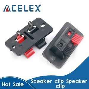 2Pcs Plastic 4 Positions Connector Terminal Push In Jack Spring Load Audio Speaker Terminals Breadboard Clip