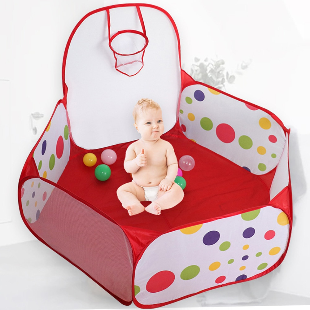 Foldable Pool Balls Playpen Baby Playpen Children Playground Fence Indoor Outdoor Play Safety Barrier Kids Ball Dry Pool Tent