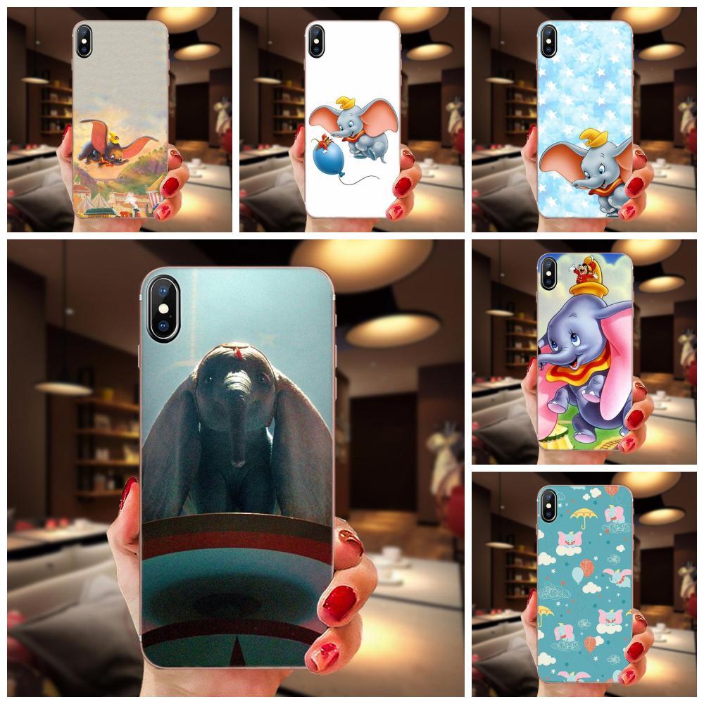 Para LG K50 Q6 Q7 Q8 Q60 X Power 2 3 Nexus 5 5X V10 V20 V30 V40 Q TPU Coque caso Capa Dumbo elefante lindo