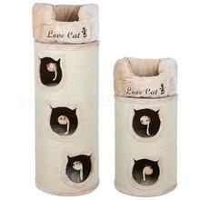 القط القط تسلق الجرف القط عش القط شجرة الصلبة السيزال برميل صندوق البريد القط عش بيت قطة القط لوازم حزمة