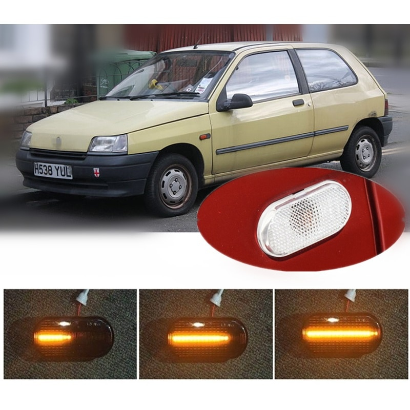 AliExpress - for Renault Clio LUTECIA I MK1 B/C57 5/357 II MK2 BB0/1/2 CB0/1/2 Dynamic LED Indicator Side Marker Signal Styling Accessories