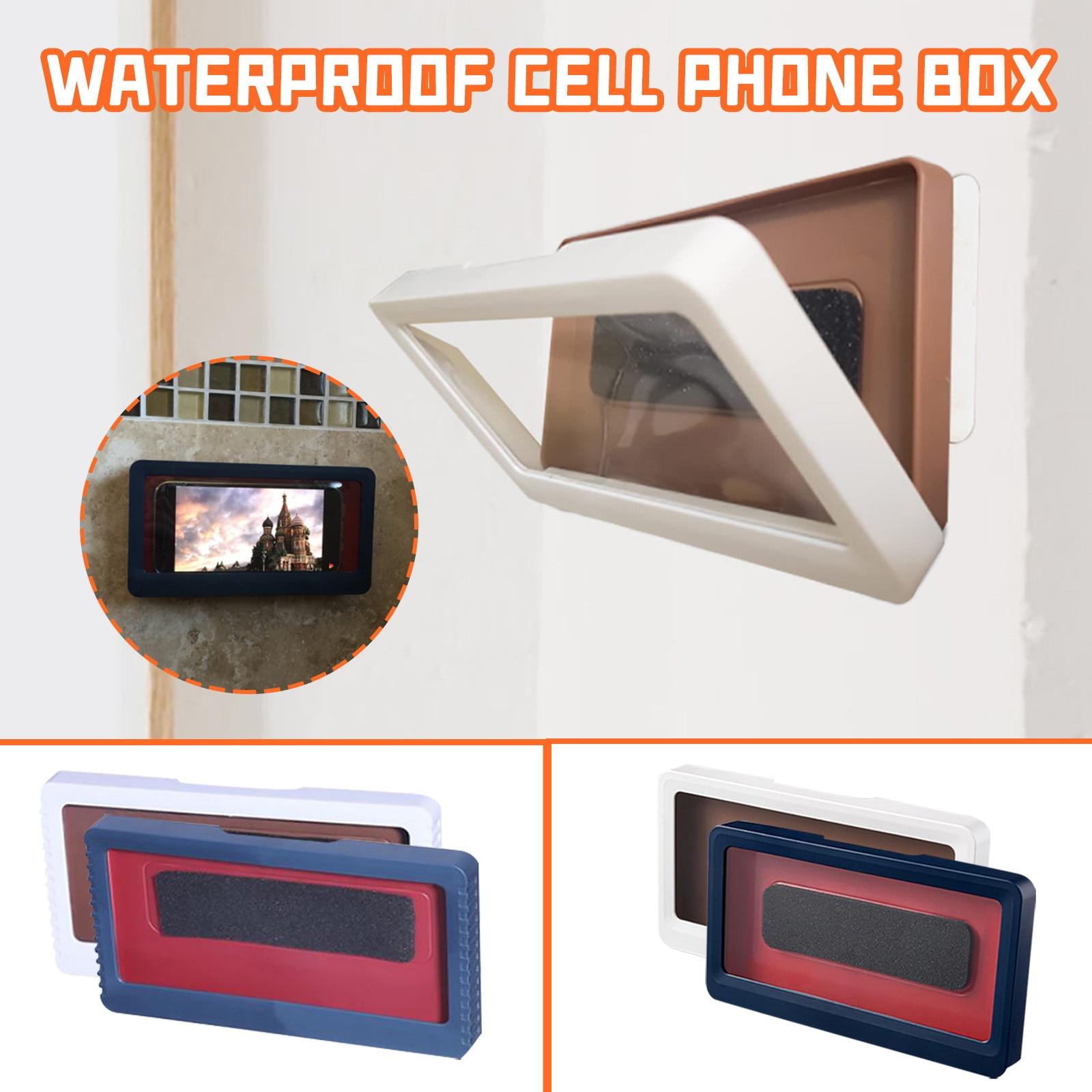 Funda de teléfono móvil con rotación de 360 grados para baño, impermeable,...
