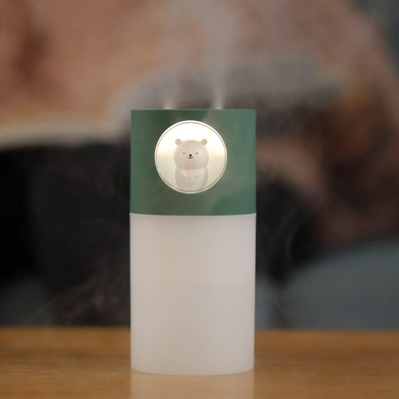 Humidificateur dair Portable à Double buse, avec filtres, diffuseur de parfum ultrasonique et dhuile essentielle, USB, 270ml, 10 pièces
