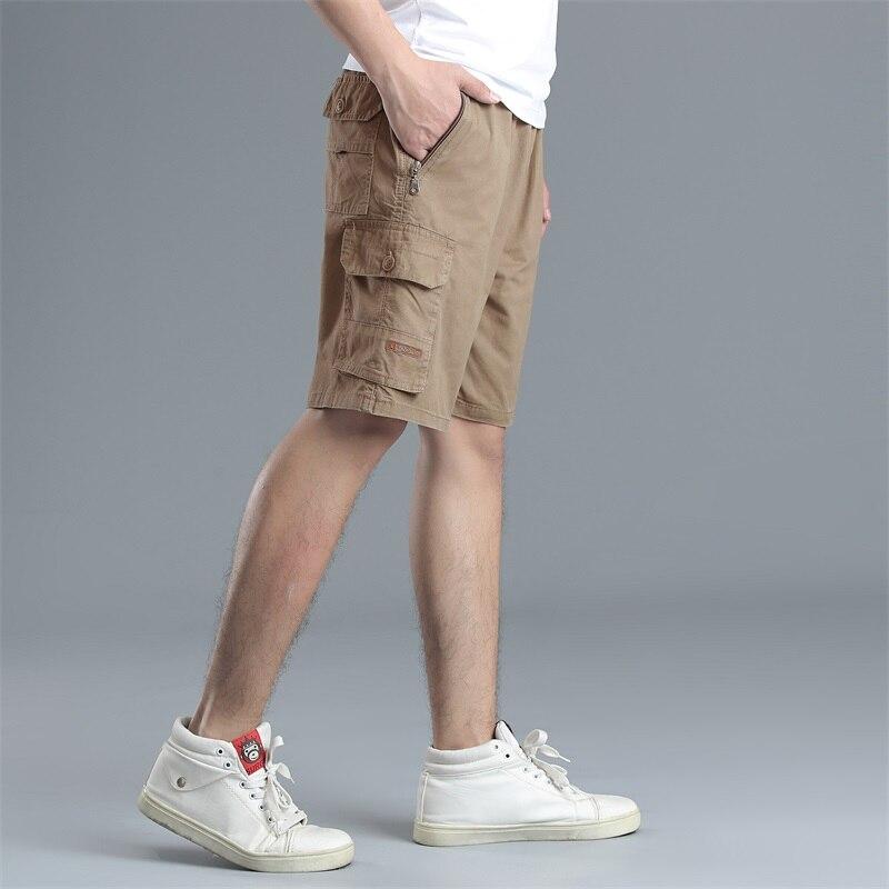 Summer Casual Shorts Loose Fashion Cargo Shorts Men Casual Summer Plus Size Harajuku Pantolon Erkek Casual Shorts BG50KK