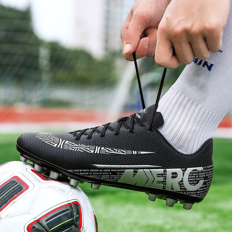 Высококачественная футбольная обувь большого размера, мужские тренировочные футбольные бутсы, Нескользящие футбольные бутсы FG, детские фу...