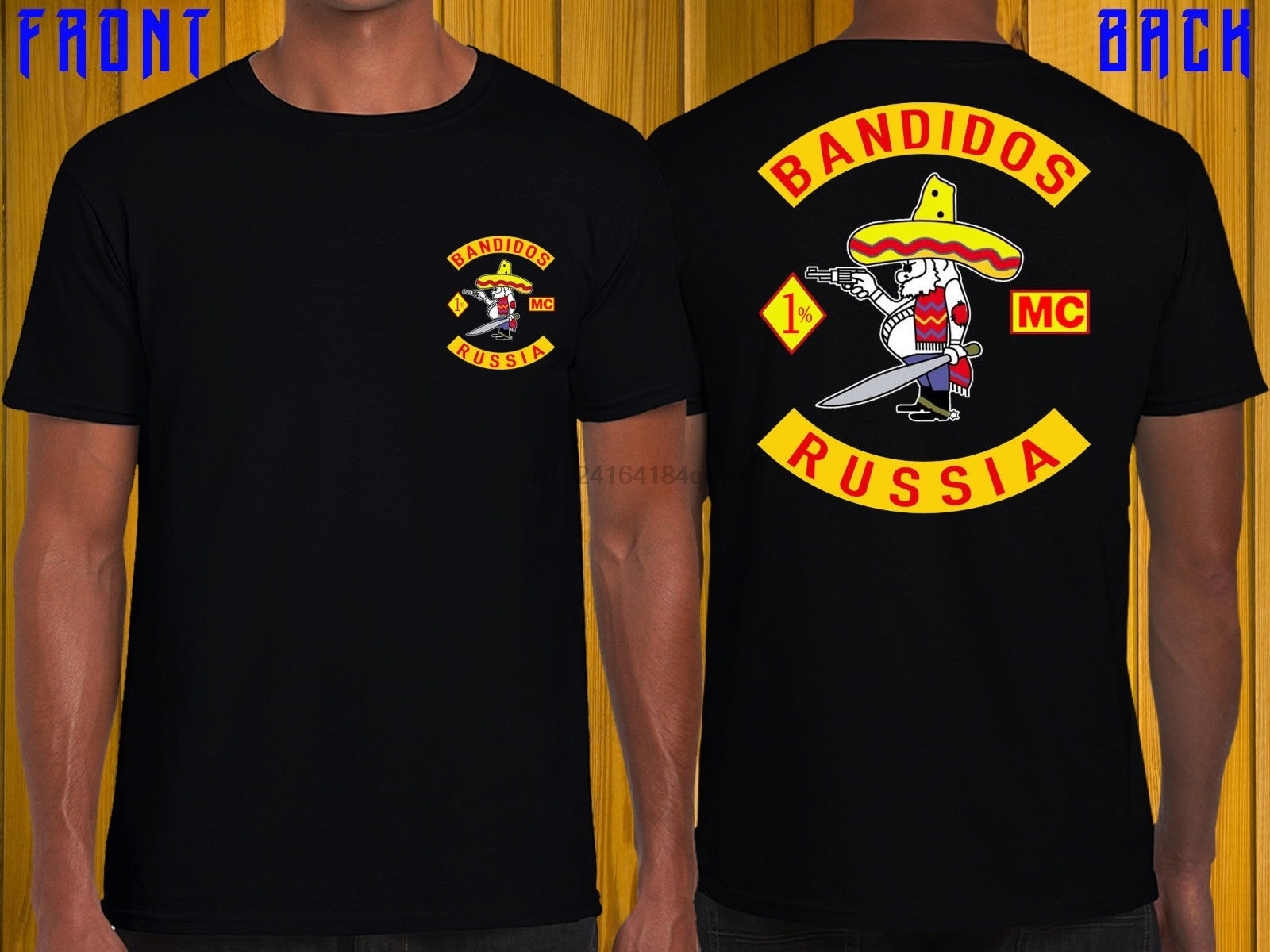 Bandidos Russland Mc T Shirt Schwarz russland Bandidos Motorclub T S-3xl