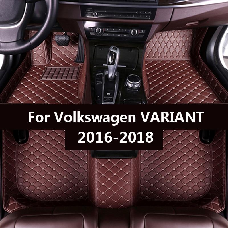 Car floor mats for Volkswagen VARIANT 2016 2017 2018 Custom auto foot Pads automobile carpet cover