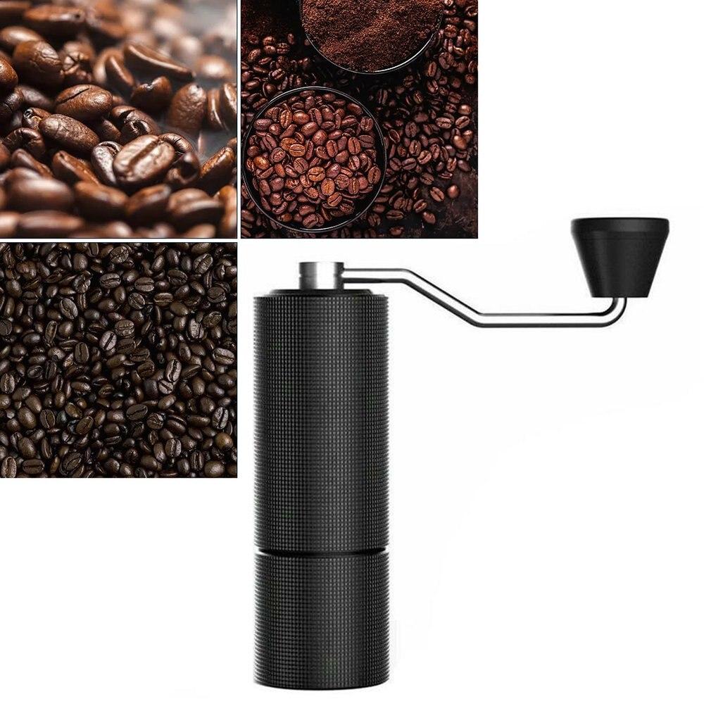 ترقية دليل طاحونة القهوة المحمولة طاحونة اليد مطحنة مع مزدوجة تحمل تحديد المواقع عالية الدقة طحن القهوة الصغيرة